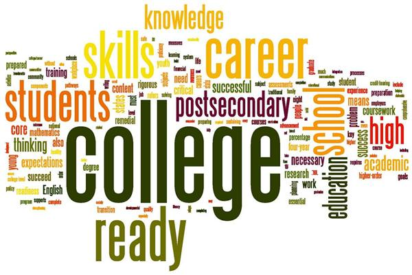 college ready word cloud